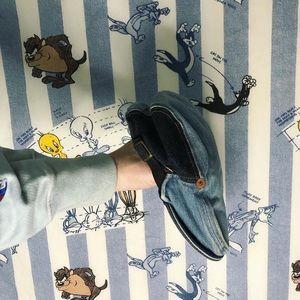 """Vintage 80s Levi's """"paper boy"""" denim patchwork hat"""